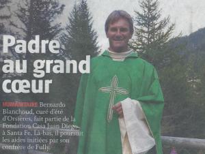 """Article dans """"La Gazette de Martigny"""", daté du mois de juillet 2017"""